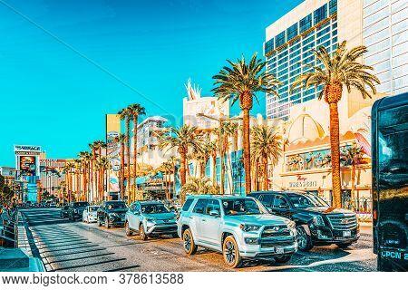 Las Vegas, Nevada, Main Street Of Las Vegas- Is The Strip.