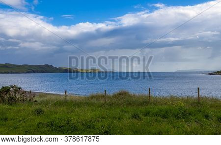 The Shoreline At Loch Brittle, From Glen Brittle Caravan Site, On A Cloudy Summers Evening On The Is