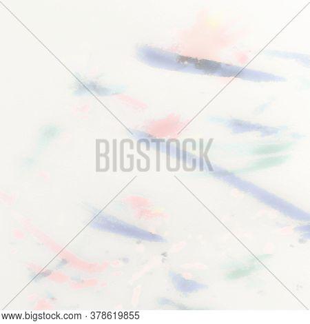 Rainbow Colored Splash. Colored Watercolour Pattern. Watercolour Gentle Texture. Colored Watercolour