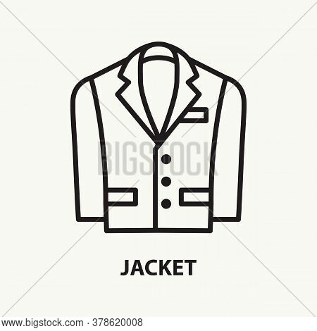 Jacket Line Icon. Simple Thin Outline Sign. Vector Illustration.