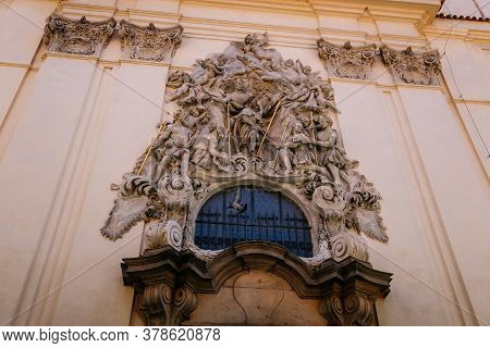 High Relief On The Facade Of The Church Of St. James The Greater, Old Town, Prague, Czech Republic,