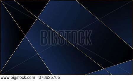 Blue Premium Polygon Texture. Elegant Dark Platinum Chic Shapes Frame Vip Silver Rich Geometric Cele
