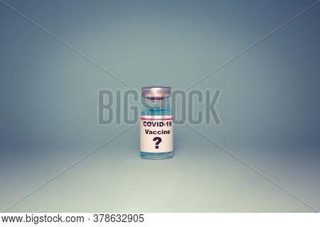 Small Vaccine Bottle (phial) With A Label That Reads