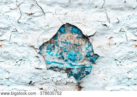 Worn Grunge. Old Rough Stone On Cement Pattern Wall Background. Vintage Grunge Plaster Or Concrete S