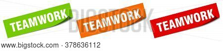 Teamwork Sticker. Teamwork Square Isolated Sign Label