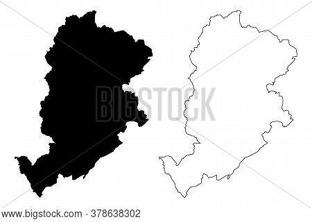 Belo Horizonte City (federative Republic Of Brazil, Minas Gerais State) Map Vector Illustration, Scr