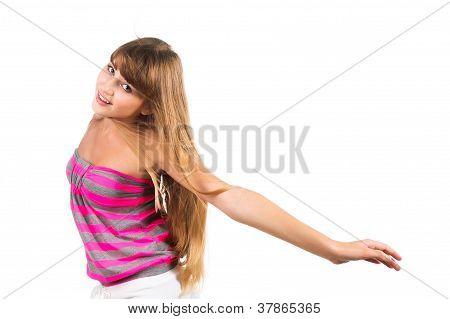 Freedom Concept Teen Girl Flying-away Isolated Over White