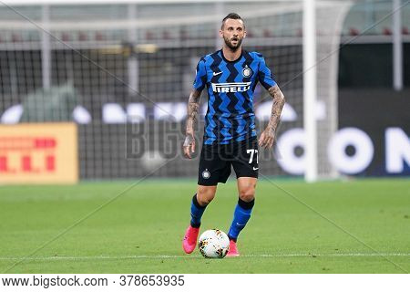 Milano (italy) 28th July 2020. Italian Serie A. Fc Internazionale Vs Ssc Napoli. Marcelo Brozovic Of