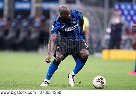 Milano (italy) 28th July 2020. Italian Serie A. Fc Internazionale Vs Ssc Napoli. Romelu Lukaku Of Fc