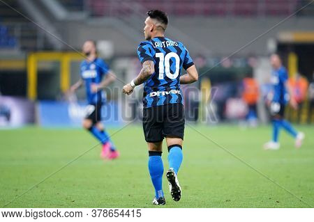 Milano (italy) 28th July 2020. Italian Serie A. Fc Internazionale Vs Ssc Napoli. Lautaro Martinez Of