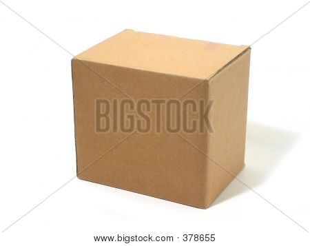 black cardboard box isolated on white background poster