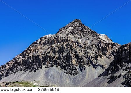 Close-up Of Baltazar Peak (3153m) From Le Rois Mages Located  On Etroite Valley- Hautes-alpe