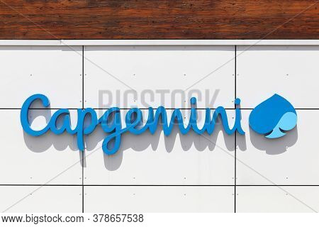 Montbonnot, France - June 15, 2019: Capgemini Logo On A Building. Capgemini Is A French Multinationa