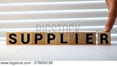 Supplier Word Made With Building Blocks
