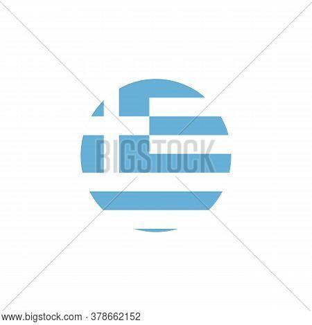 Greece Symbol, Greece Flag Flat Vector Icon Isolated