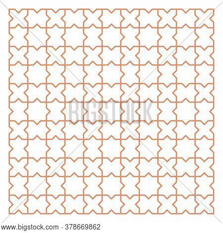 Simple Geometric Jalousie Background In Plain Style. Flat.