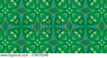 Hand Drawn Geometrical Pattern. Stripe Flower Azulejo Banner. Background Hand Drawn Geometrical Patt
