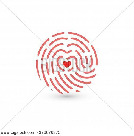 Fingerprint Icon Isolated On A Wite Background
