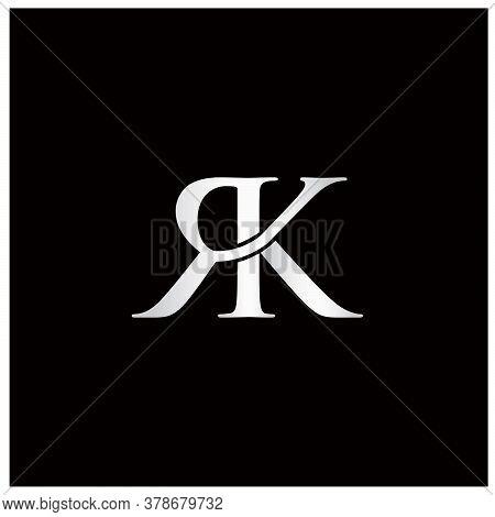 Letter R And Letter K Initials Logo Design