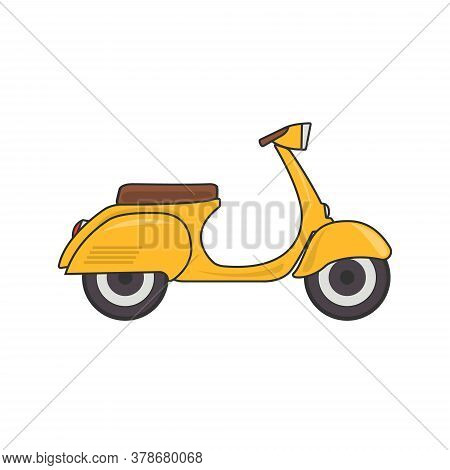 Vector Retro Scooter Vintage Isolated Illustration Eps 10