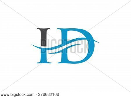 Initial Id Logo Design Swoosh. Vector Id Logo For Business And Company Identity