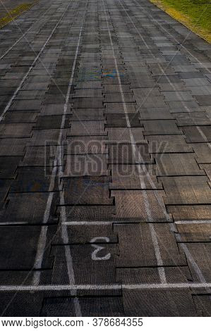 Running Track Texture With Lane Numbers, Running Track Background
