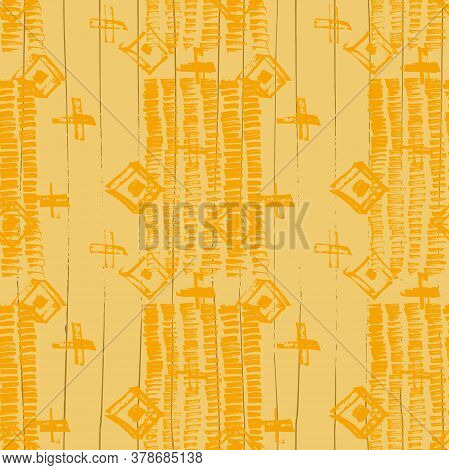 Tie Dye Japanese Geometric Modern Seamless Pattern. Geo Wabi Sabi Traditional Kimono Print. Scribble