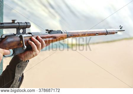 Shooting In A Dash Of Mosin Rifle With A Sniper Scope