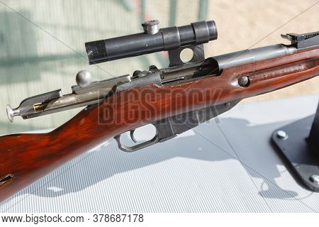 Fragment Of Mosin Rifle With A Telescopic Sight And A Back-extended Shutter