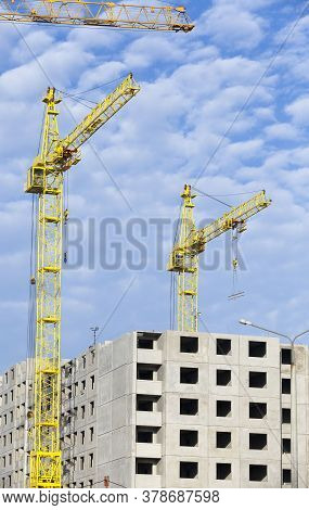 Rapid Construction Of New Multi-storey Buildings Made Of Reinforced Concrete Blocks And Panels For C