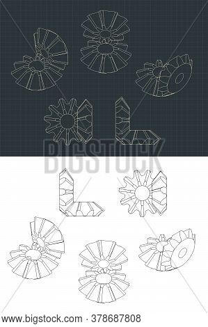 Bevel Gear Module Drawings