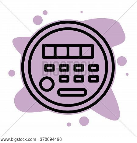 Electric Energy Meter Icon. Outline Electric Energy Meter Vector Icon For Web Design Isolated On Whi