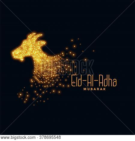 Eid Al Adha Background With Sparkling Goat Design
