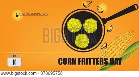 Post Card For Event July Day Corn Fritters Day