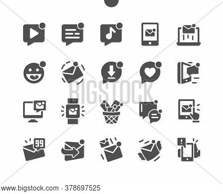 Unread Messages Well-crafted Pixel Perfect Vector Solid Icons 30 2x Grid For Web Graphics And Apps.