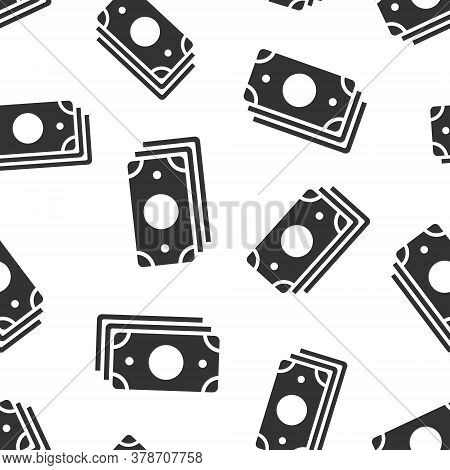 Money Currency Banknote Icon In Flat Style. Dollar Cash Vector Illustration On White Isolated Backgr