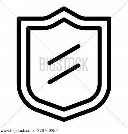 Shield Personal Information Icon. Outline Shield Personal Information Vector Icon For Web Design Iso