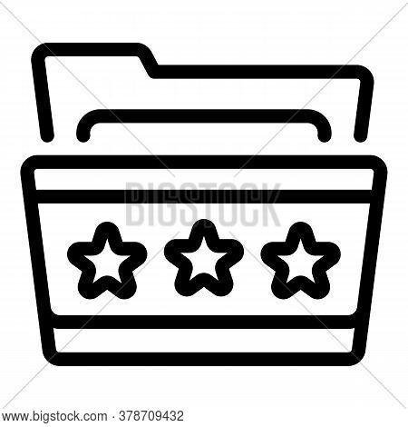 Star Personal Folder Icon. Outline Star Personal Folder Vector Icon For Web Design Isolated On White