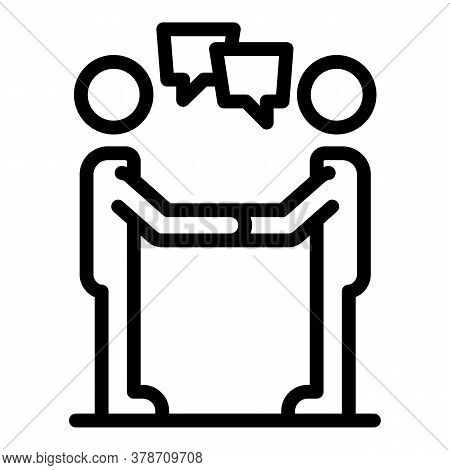 Personal Traits Communication Icon. Outline Personal Traits Communication Vector Icon For Web Design