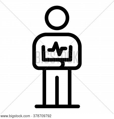 Heartrate Personal Traits Icon. Outline Heartrate Personal Traits Vector Icon For Web Design Isolate