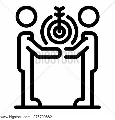 Target Personal Communication Icon. Outline Target Personal Communication Vector Icon For Web Design