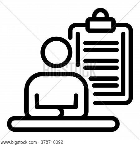 Company Founder Team Icon. Outline Company Founder Team Vector Icon For Web Design Isolated On White
