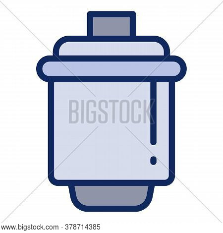 Water Cartridge Icon. Outline Water Cartridge Vector Icon For Web Design Isolated On White Backgroun