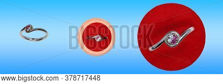 Two Red And White Diamond Platinum Fancy Rings Design For Girls (jewels Catalog )