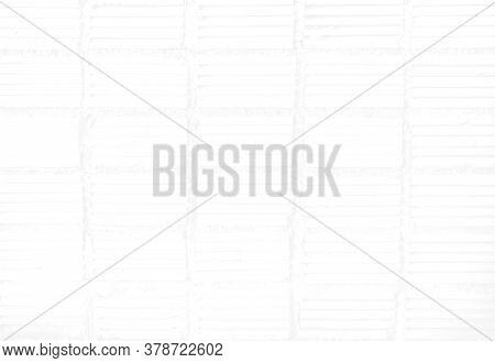 White Brick Wall For Interior Design, Soft Focus On White Brick Surface, Background White Brick Wall