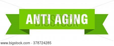 Anti Aging Ribbon. Anti Aging Isolated Band Sign