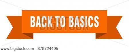 Back To Basics Orange Isolated Paper Ribbon