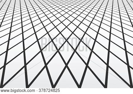 Abstract geometric lines pattern in diminishing  perspective for textured background and other design.