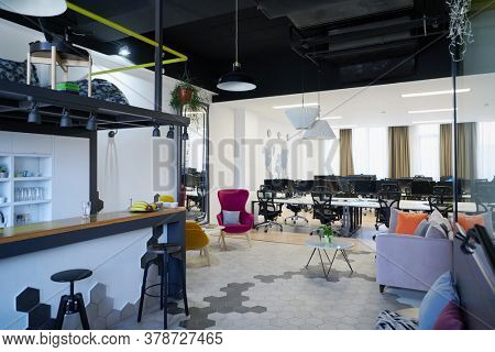 Empty Interior Of Modern Design Open Plan Start up Office