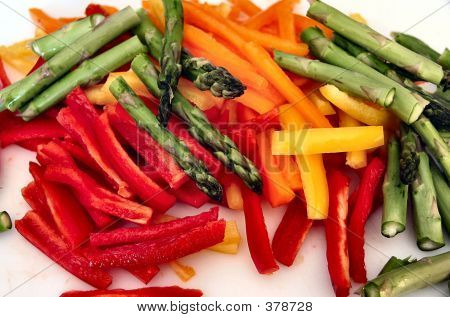 Peppers And Asparagus  Upload